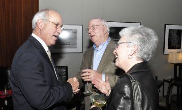 Ed Schaffler thanks supporters at retirement reception