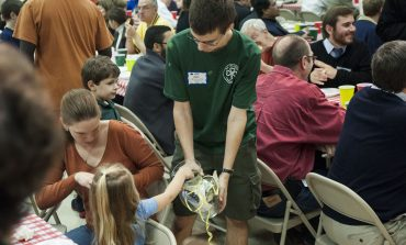 St. Patrick's hosts pizza for priests