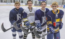 Eighth-graders get a shot at high school hockey