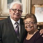 Raymond and Lupe Zuniga will celebrate their 61st wedding anniversary during the Diocesan Silver and Gold Anniversary Mass on Sept. 6. (JENNA TETER/The Texas Catholic)