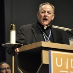 Vancouver Archbishop J. Michael Miller presented the keynote speech Oct. 24 at the University of Dallas Ministry Conference in Irving. (JENNA TETER/The Texas Catholic)