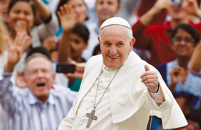Pope Francis confirmed on Nov. 17 that he will visit Philadelphia in September for the World Meeting of Families. (CNS photo)