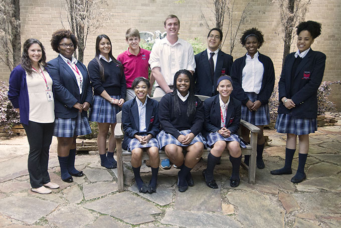 The Bishop Dunne Catholic School Respect For Life Club promotes awareness on pro-life issues on campus and in the community. (JENNA TETER/The Texas Catholic)