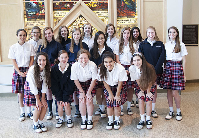 The Pro-Life Ursuline Students Club, or PLUS, remains active throughout the school year, participating in activities that promote pro-life awareness on campus and in the greater community. (JENNA TETER/The Texas Catholic)