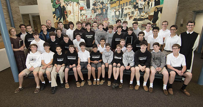 A student-driven effort at Cistercian Preparatory School has seen its Pro-Life Club both grow in numbers and activity. (JENNA TETER/The Texas Catholic)