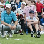 Dallas native and Jesuit alum Jordan Spieth hosts a free youth clinic alongside fellow PGA Tour player and Dallas native Harrison Frazer at the TPC Four Seasons golf course in Las Colinas May 26. (JENNA TETER/The Texas Catholic)