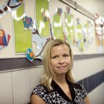 A veteran educator with a passion for teaching, Kelly Blake is All Saints Catholic School's new principal. (JENNA TETER/The Texas Catholic)