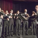 Gregory Hamilton, director of Sacred Music, directs the seminarians at the Spes Gregis Dinner in support of Holy Trinity Seminary on Sept. 19 at the Dallas Hilton Anatole.  (Ron Heflin/Special Contributor)