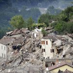 General view of collapsed houses in Pescara del Tronto, Italy, following a following an earthquake Aug. 24. (CNS photo/Cristiano Chiodi, EPA)