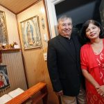 BEN TORRES/Special Contributor Carlos and Yolanda Liscano, parishioners at St. Francis of Assisi Catholic Church, at their home on Aug. 28.  (BEN TORRES/Special Contributor)