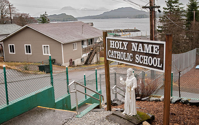 Holy Name Catholic School is the only Catholic school in the Diocese of Juneau. (JENNA TETER/The Texas Catholic)