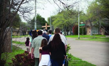 Parish's Rosary Walk takes faith to the streets