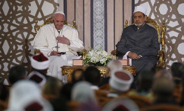Unmask violence posing as holy, pope says in Egypt