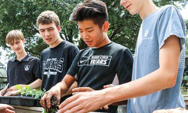 Bishop Lynch students build sustainable garden