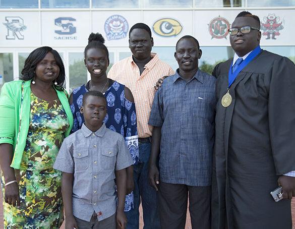 School, community help refugee follow his dreams