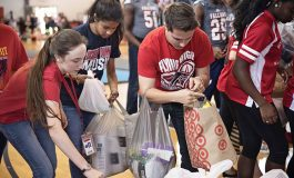 Spirits swell as school rallies to support storm victims