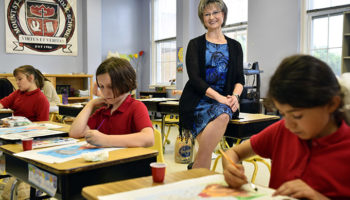 Longtime educator, principal leaves her mark on school
