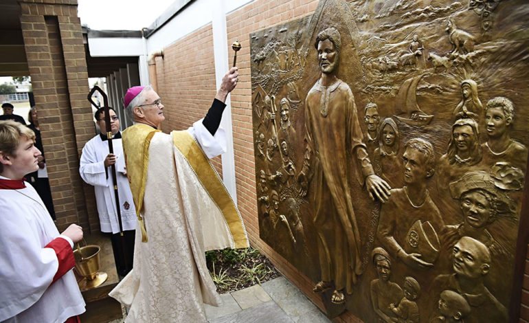Bas-relief a testament to saint and woman who inspired it