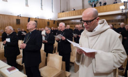 Benedictine abbot leads pope, curial officials in Lenten retreat
