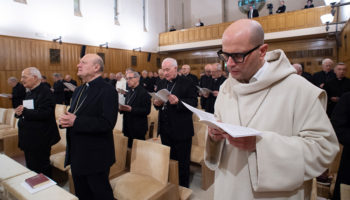 Benedictine abbot leads pope, curial officials in Lenten retreat