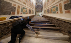 Worn marble steps of Holy Stairs to be uncovered for public to climb