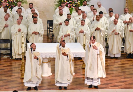 Bishop Burns ordains three new priests for the diocese
