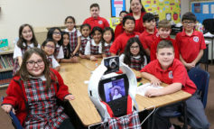 Robot allows student to remain in classroom from home