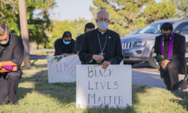 After 'taking a knee,' border bishop gets a call from the pope