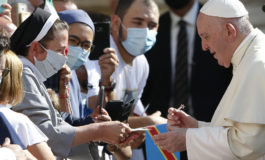 Common good, not greed, must motivate search for vaccine, pope says