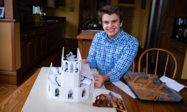 College student creates gingerbread cathedral, raises money for homeless