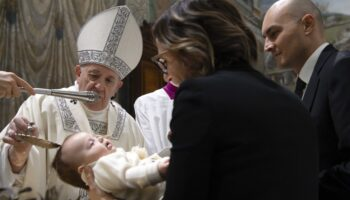 Pope Francis will not baptize infants on feast day this year