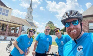 Cycling seminarians' trek promotes vocations